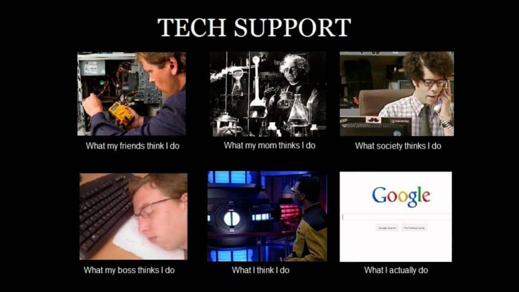 Tech support - what I do - Google!