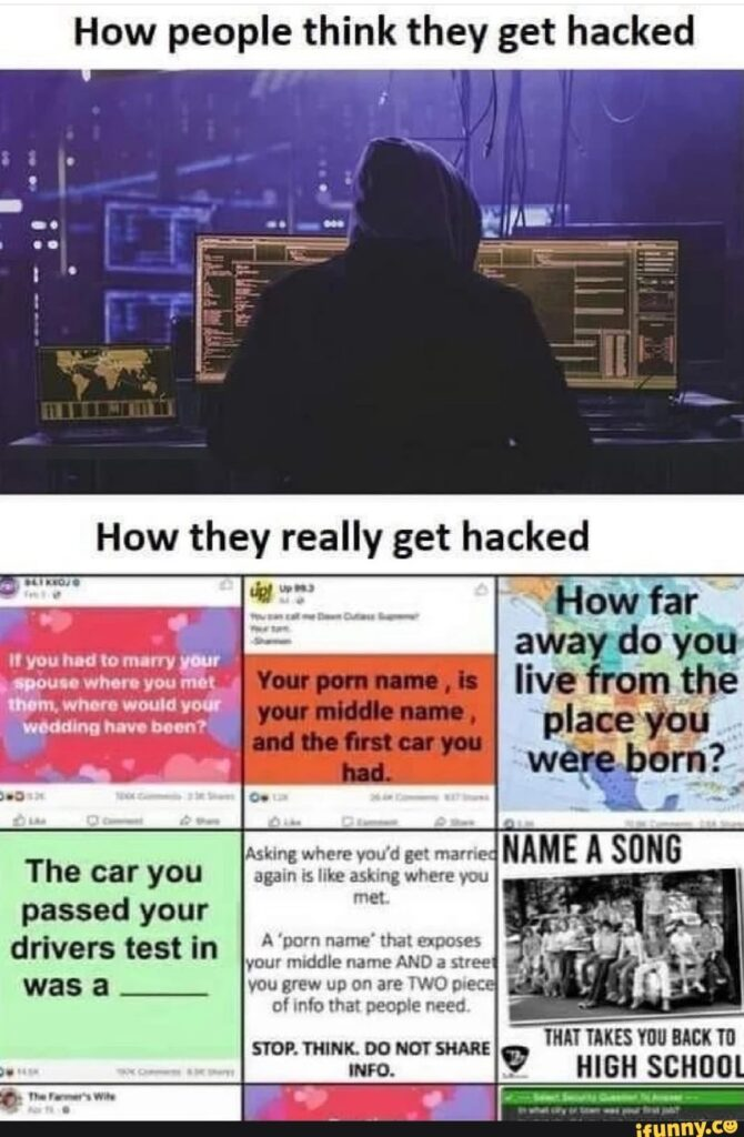 Facebook questions that get you hacked