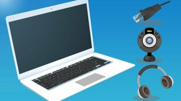 Tip for online meetings - Zoom, Skype, Microsoft Teams, webcam, laptop WiFi