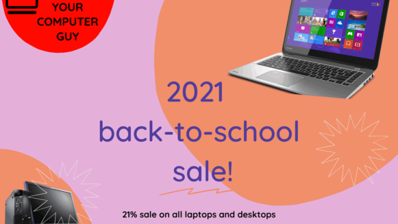 Back to School sale on laptops and desktops