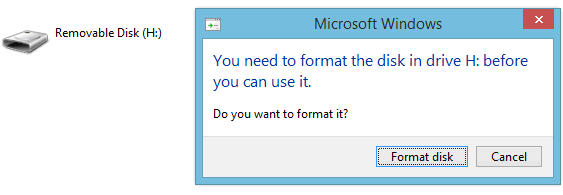 Need to format the drive before using it