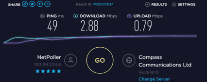 Download and upload speed on 3G connection with bad coverage