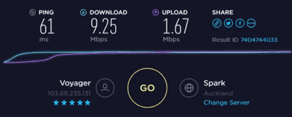 Download and upload speeds on 3G connection with good reception