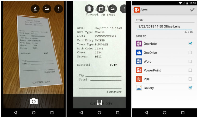 Microsoft Office Lens - free pocket scanner for Android and iOS